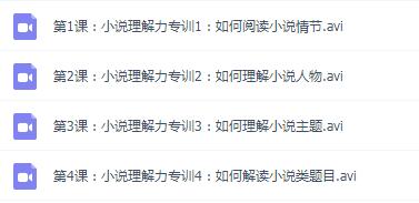【完结】阅读理解力专训(二)邵鑫 4讲