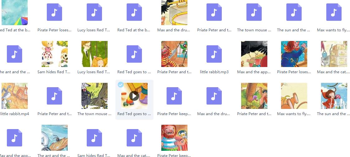 培生分级阅读1-6级绘本音频mp3+动画mp4