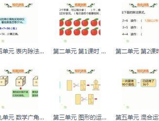 【完结】人教版二年级下册数学同步课 [516.7M]